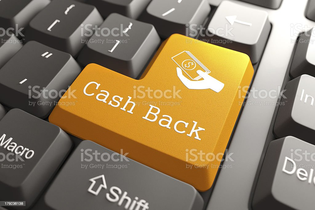 Keyboard with Cash Back Button. stock photo