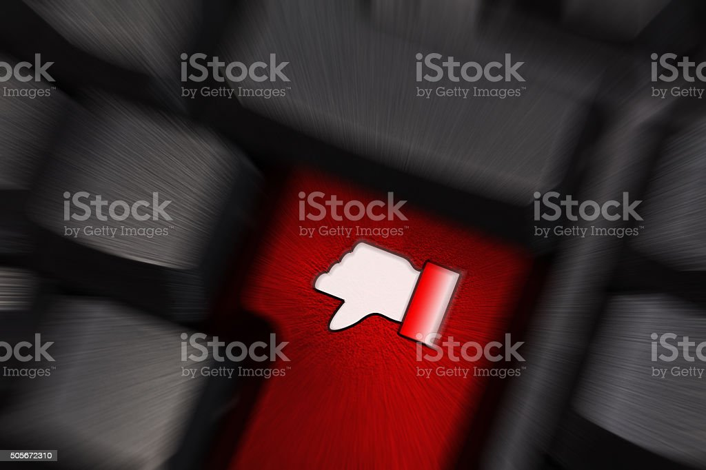 keyboard with dislike symbol speed background vector art illustration