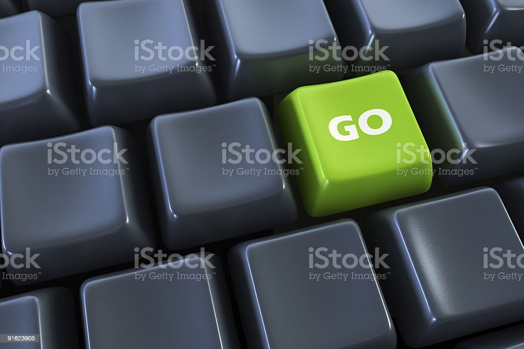 keyboard with 'go' button royalty-free stock photo