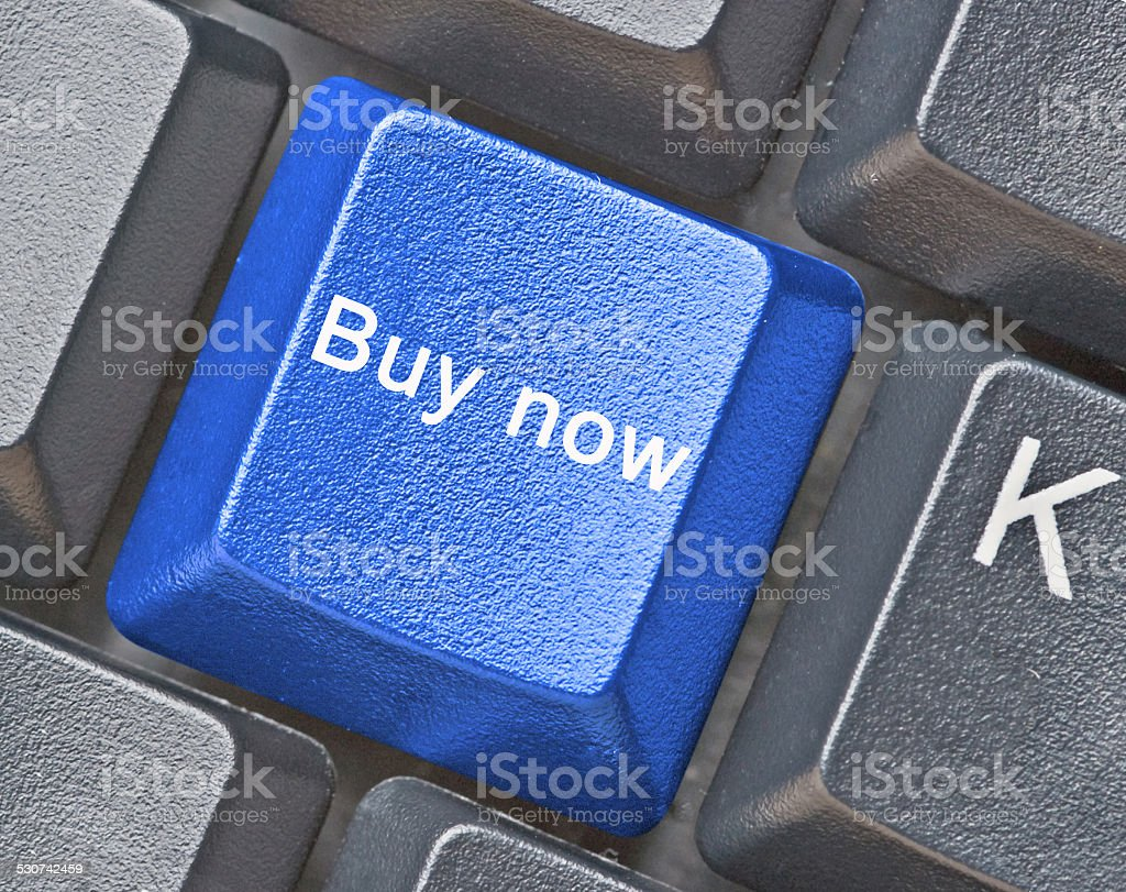 Keyboard with hot key for buy now stock photo