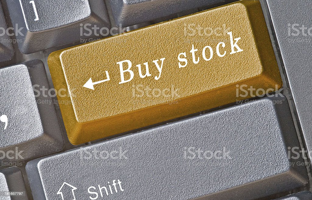 Keyboard with hot key for e-business royalty-free stock photo