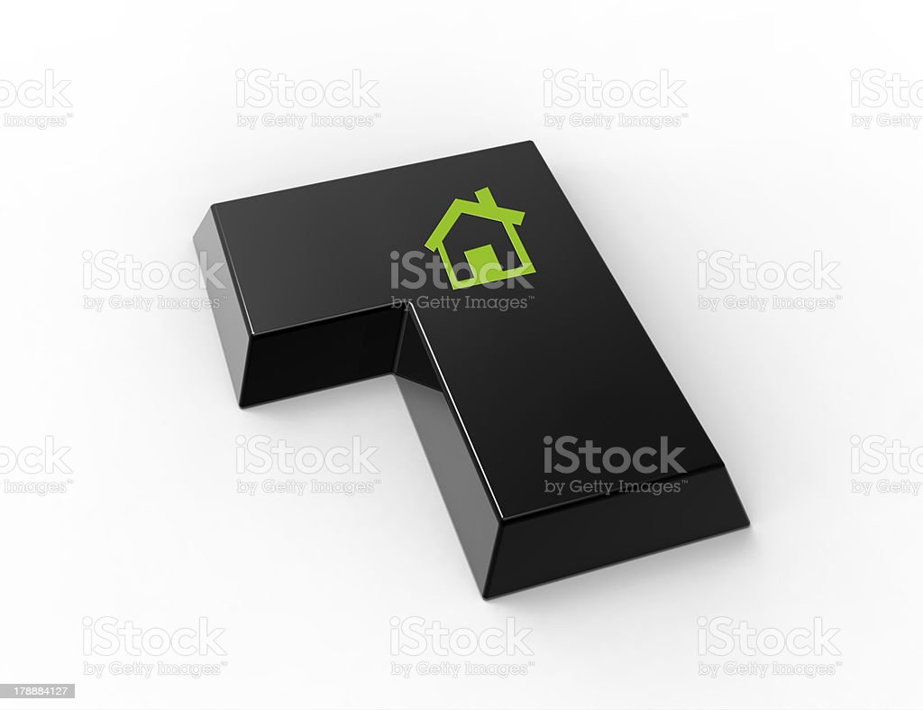Keyboard with house symbol royalty-free stock photo