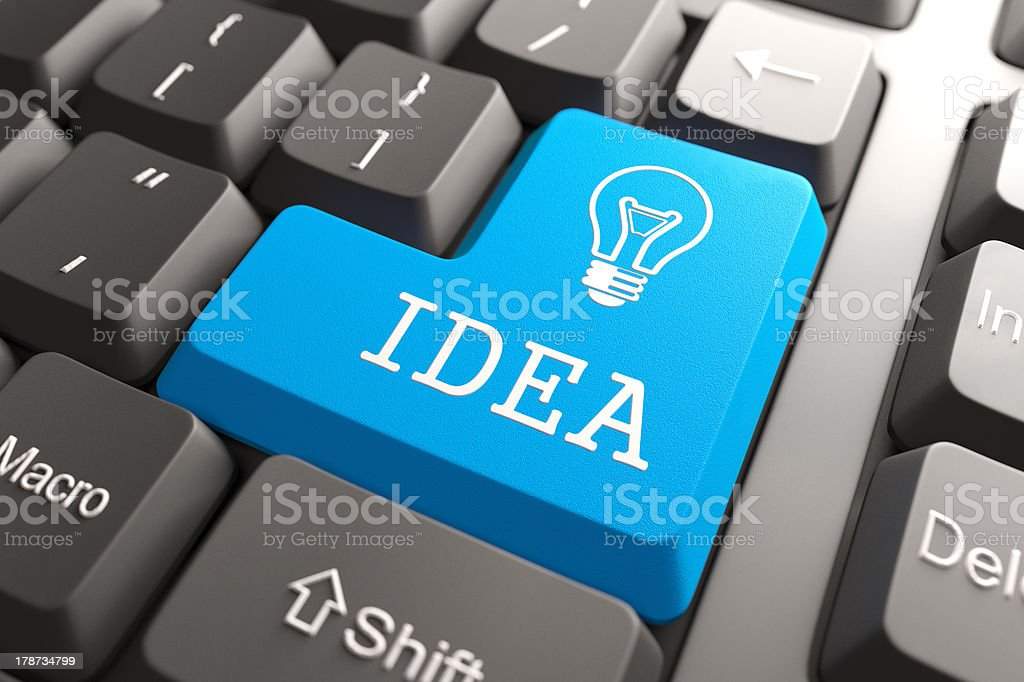 Keyboard with Idea Button. royalty-free stock photo