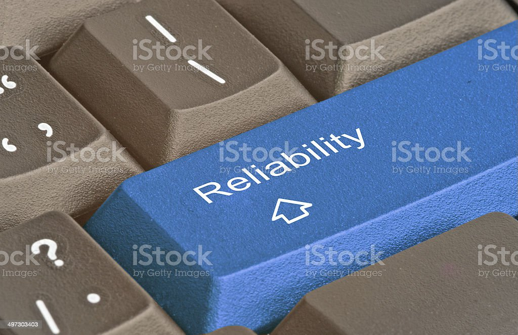 Keyboard with key for reability stock photo
