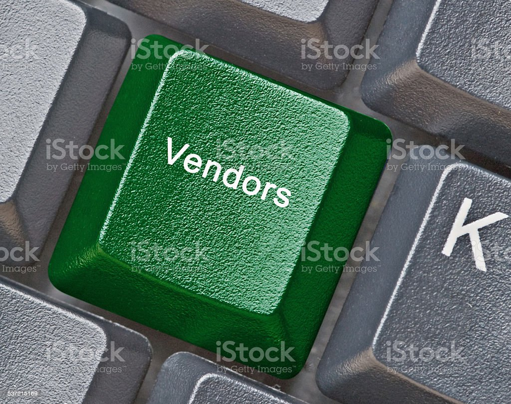 Keyboard with key for vendors stock photo