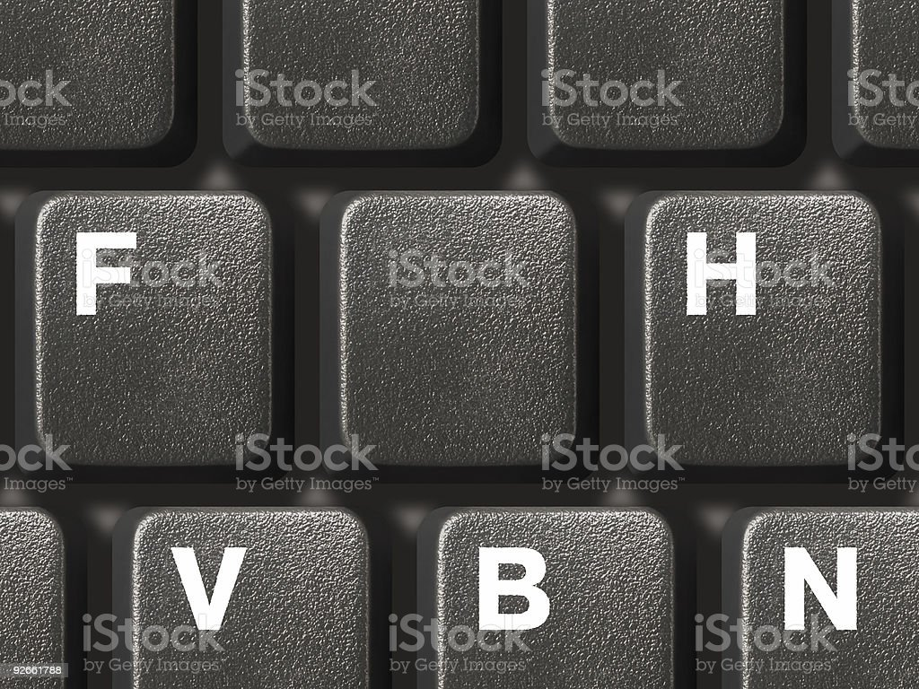 PC keyboard with one empty key royalty-free stock photo