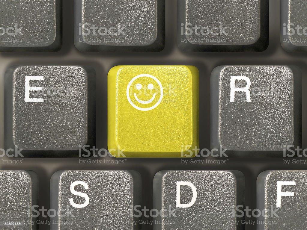 Keyboard (closeup) with Smile key royalty-free stock photo