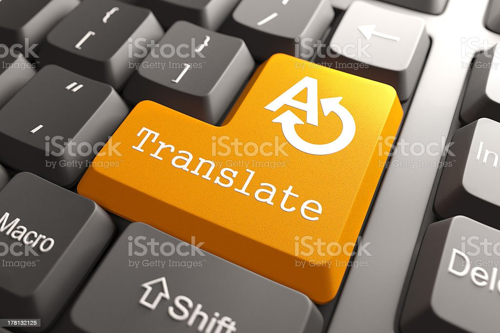 Keyboard with Translate Button. stock photo