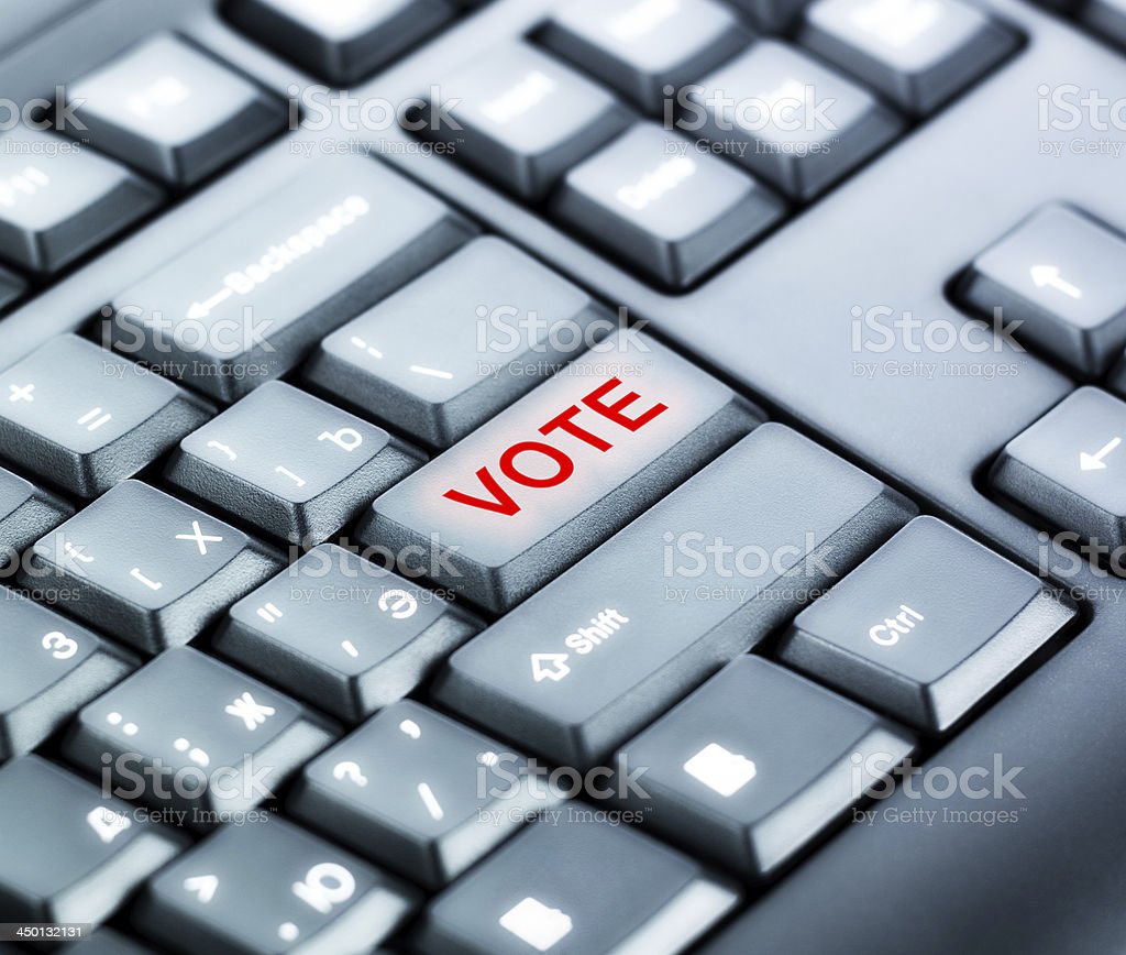 Keyboard with VOTE Button stock photo