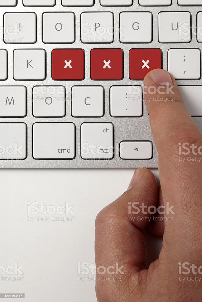Keyboard With XXX Keys stock photo