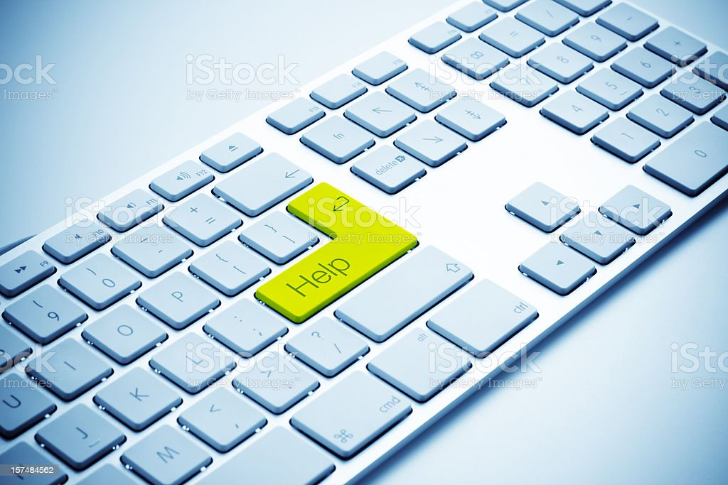Keyboard with Yellow HELP key royalty-free stock photo