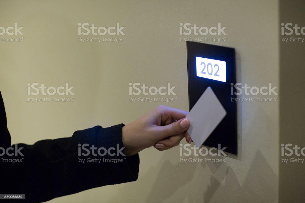 Keycard access stock photo