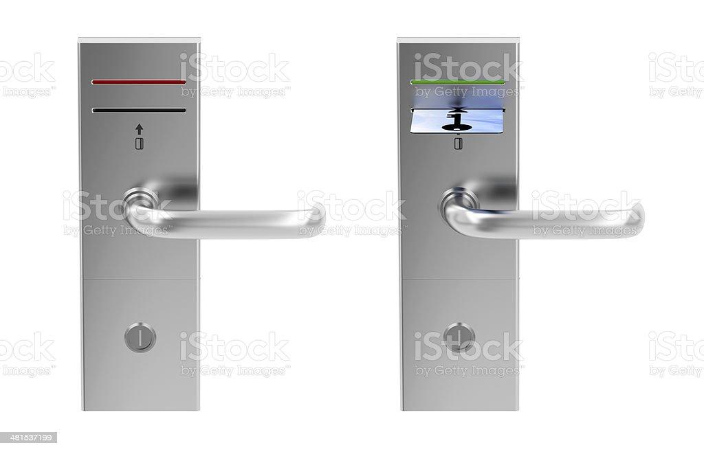 Keycard electronic locks stock photo