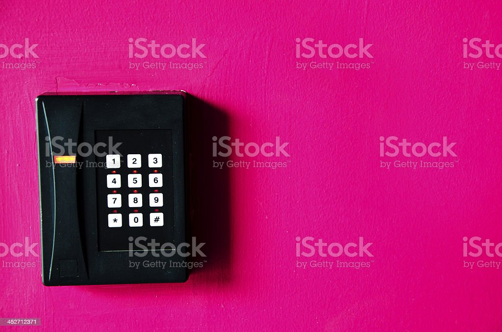 Keycard. stock photo