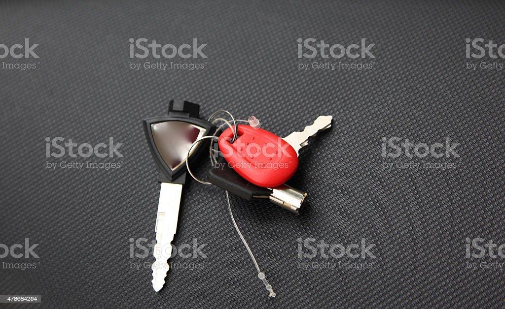 Keychain for motorbike stock photo