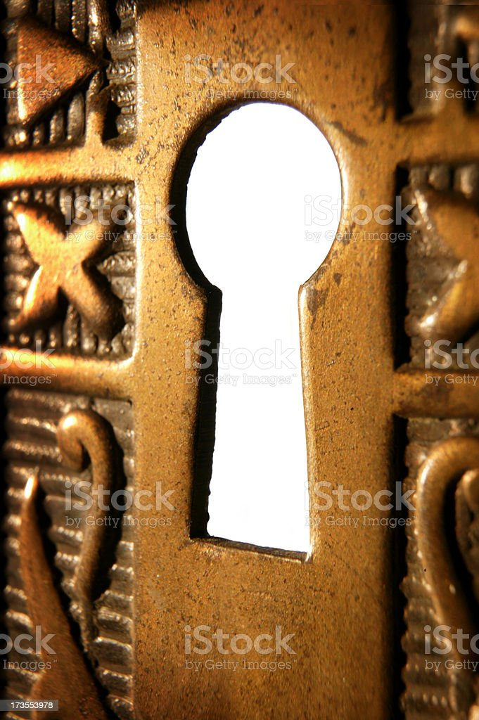 Keyhole 1 royalty-free stock photo