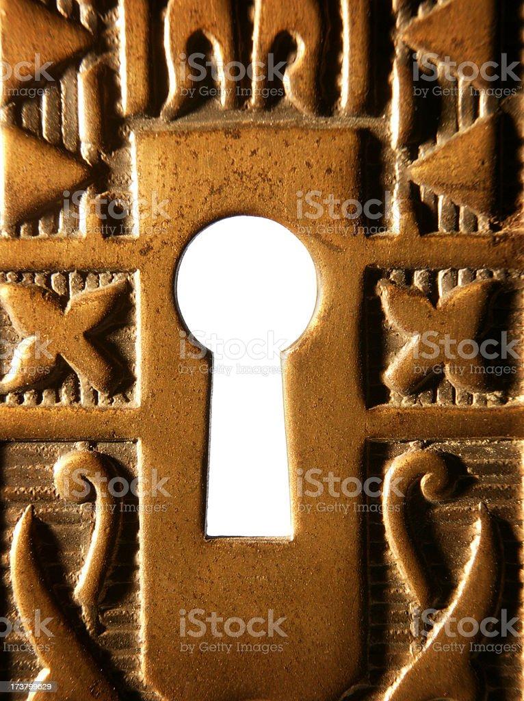 Keyhole 2 royalty-free stock photo