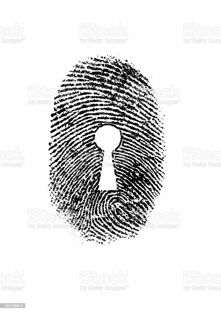 Keyhole fingerprint royalty-free stock photo