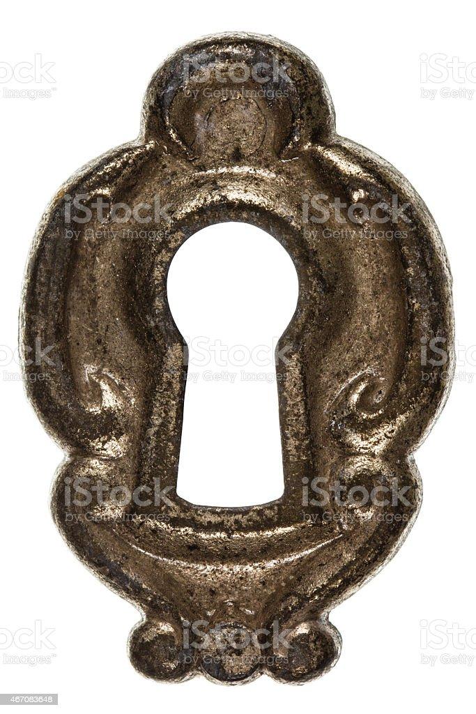 Keyhole, isolated on white background stock photo