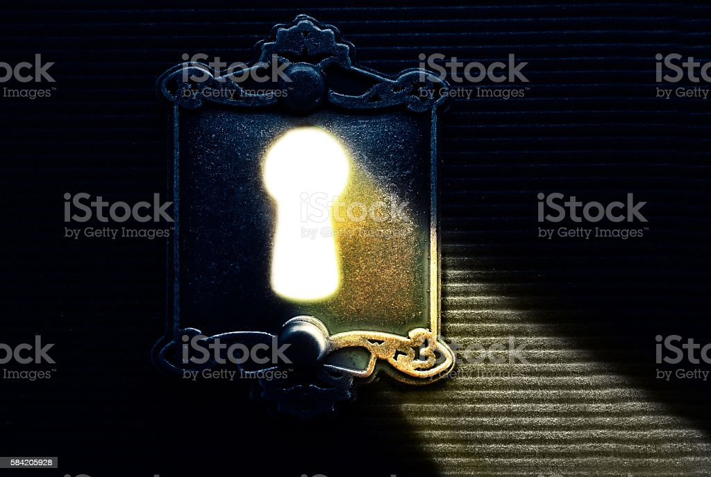 Keyhole light lock stock photo