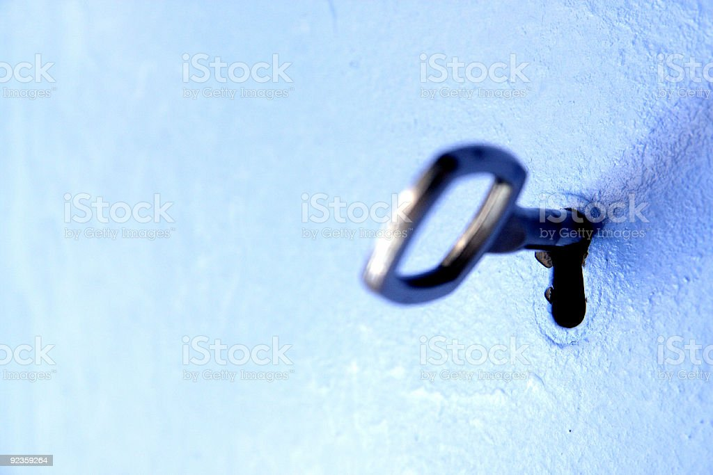 Keyhole macro stock photo