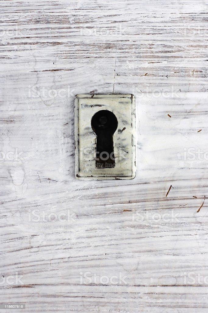 Ouverture goutte d'eau sur la porte photo libre de droits