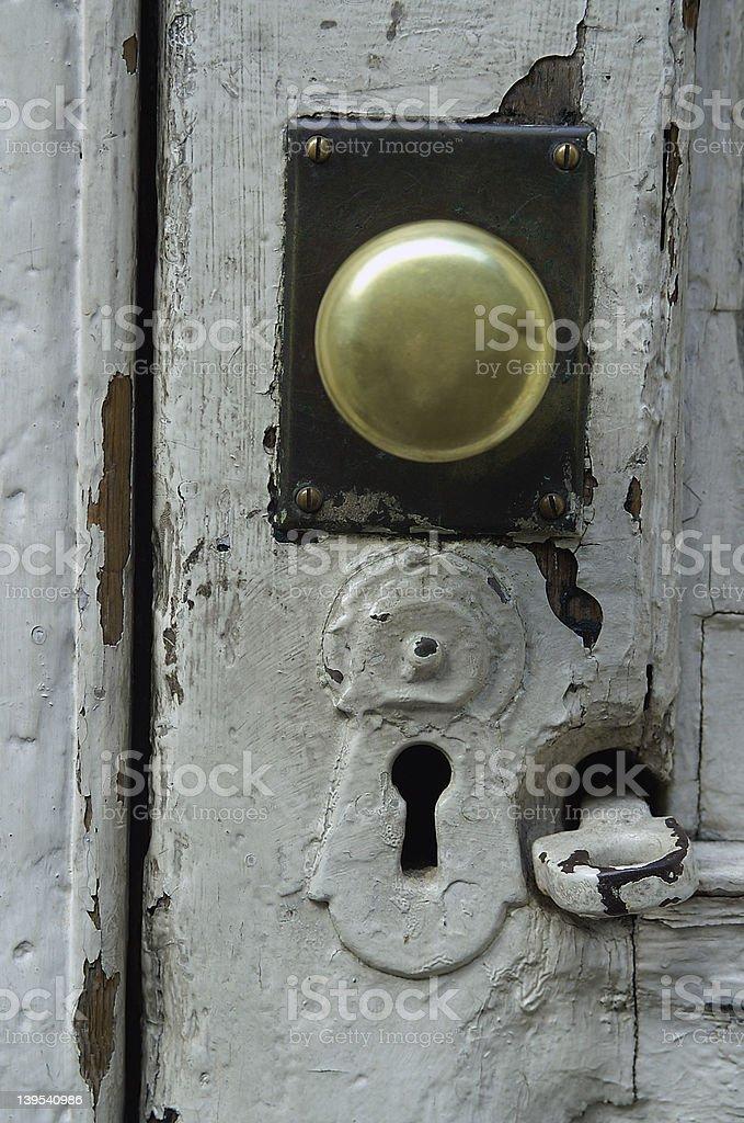 NYC keyhole royalty-free stock photo