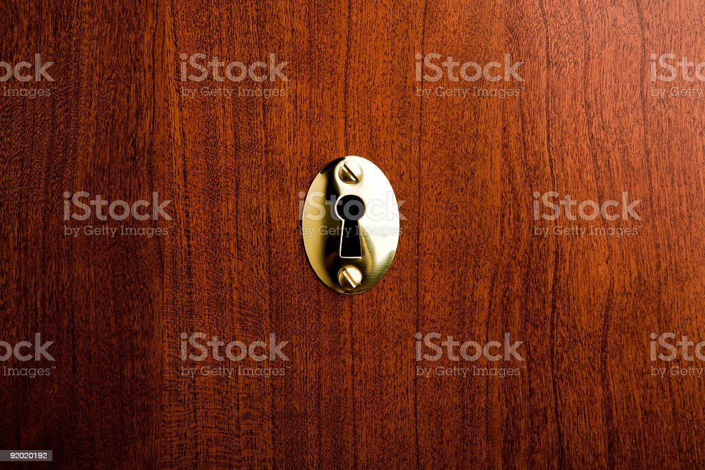Keyhole royalty-free stock photo