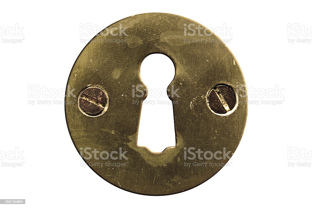 Keyhole with clipping path royalty-free stock photo