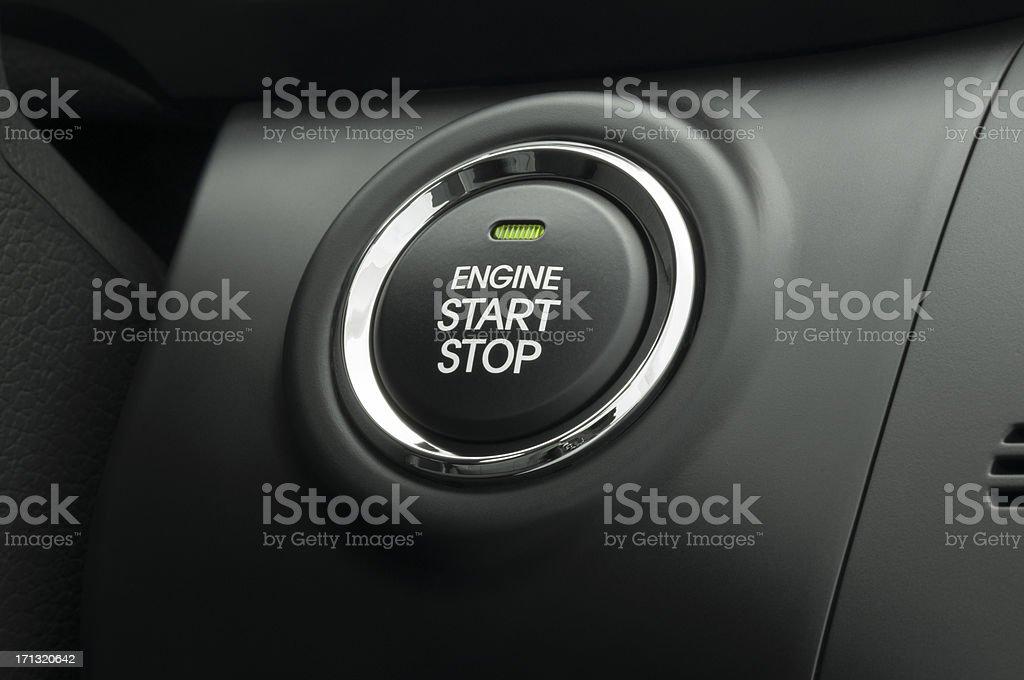 Keyless Smart Key Engine Start Stop Button stock photo