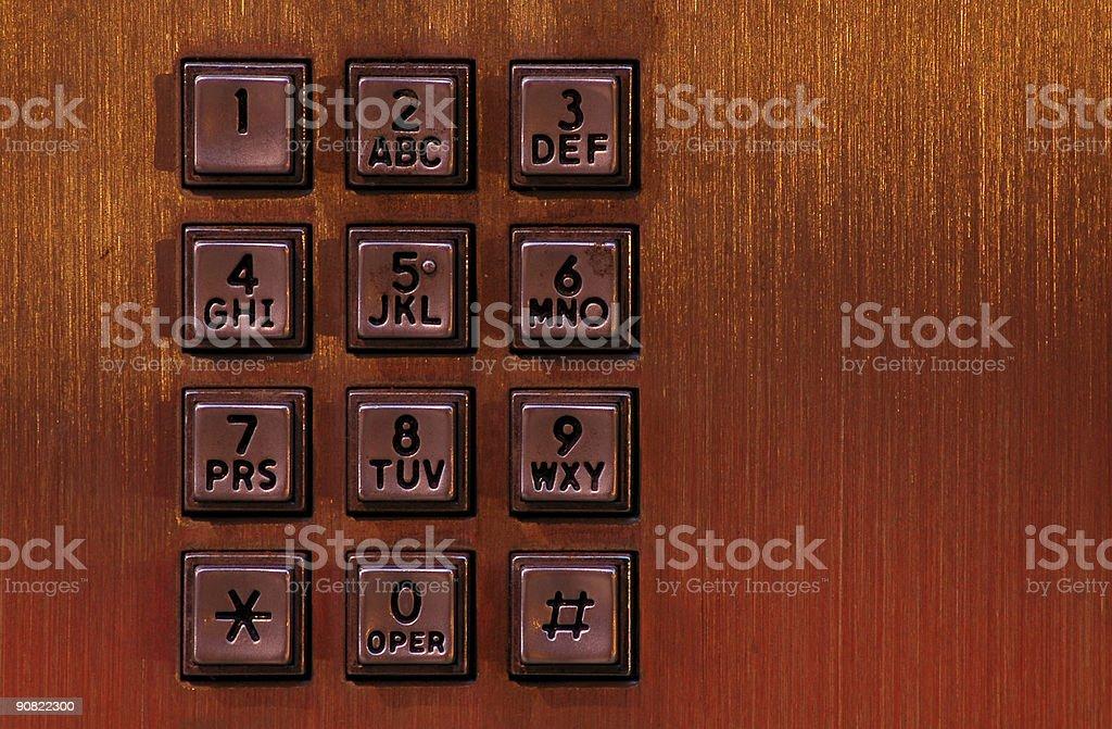 Keypad Grunge stock photo