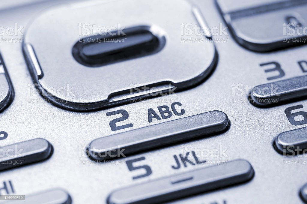 Keypad of a Cell Phone stock photo
