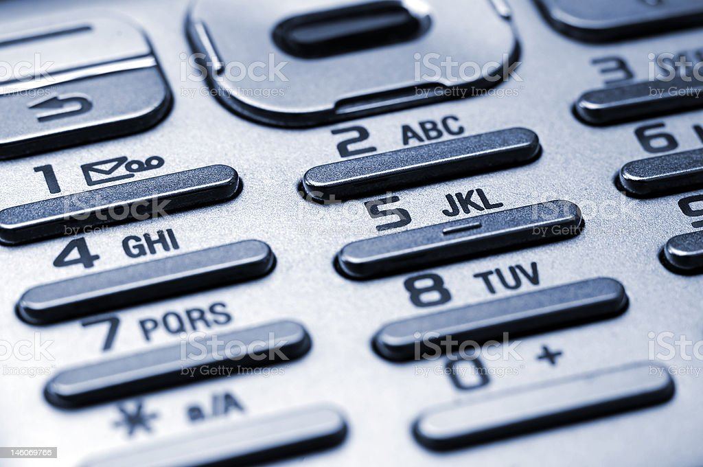 Keypad of a cell phone royalty-free stock photo