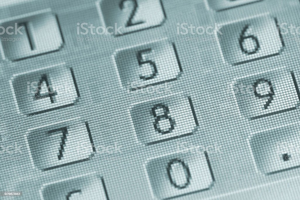 keypad of numbers royalty-free stock photo