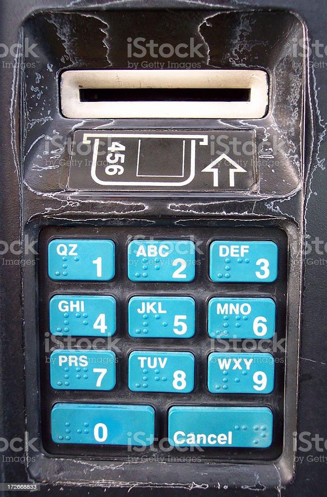 ATM Keypad stock photo