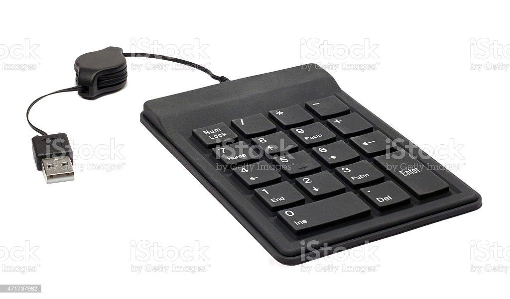 USB keypad stock photo
