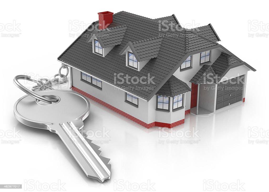 Keyring - House and Key royalty-free stock photo
