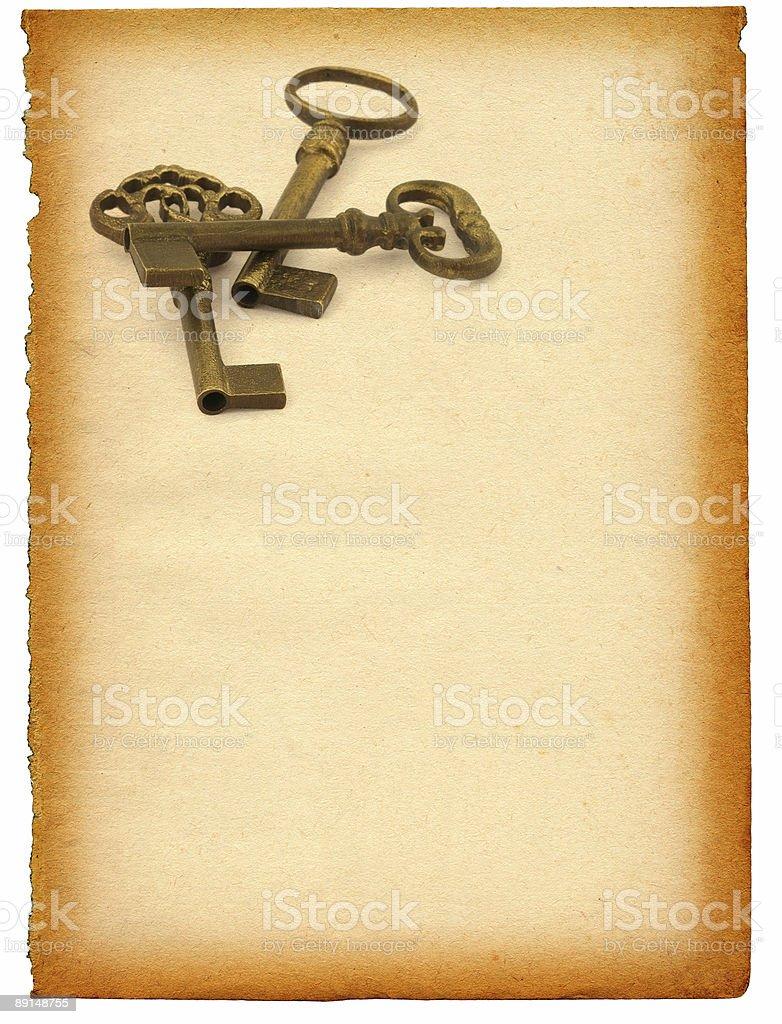 keys against paper stock photo