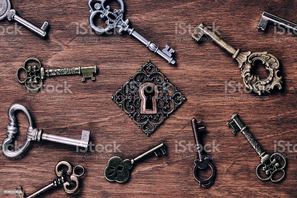 Keys And Keyhole stock photo