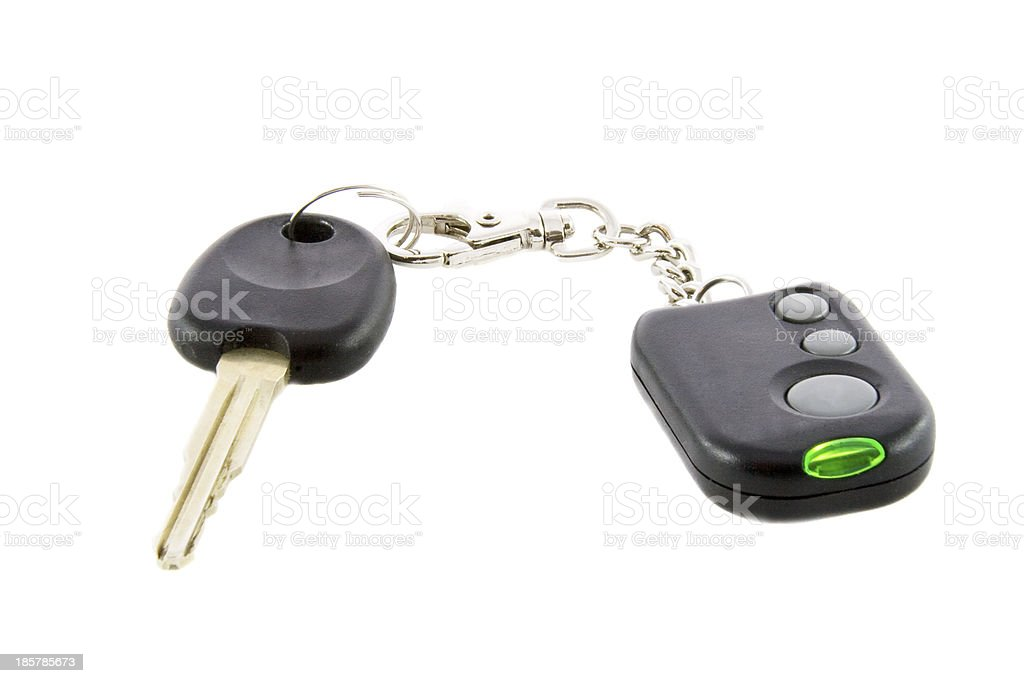 keys and remote control of car alarm system royalty-free stock photo