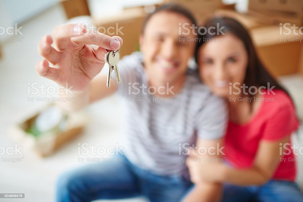 Keys from flat stock photo