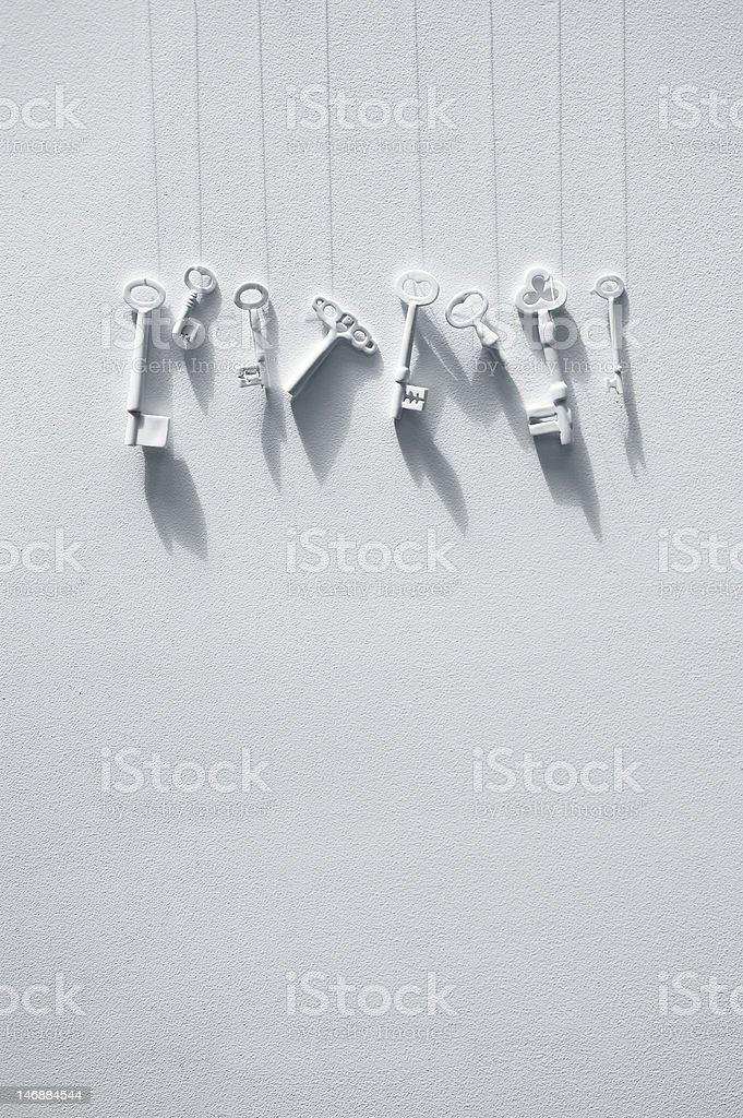 키별 매달기 벽에 royalty-free 스톡 사진