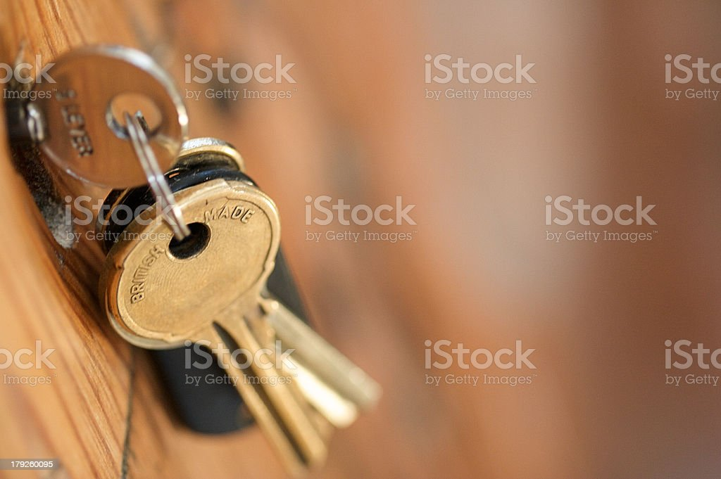 Keys In Door stock photo
