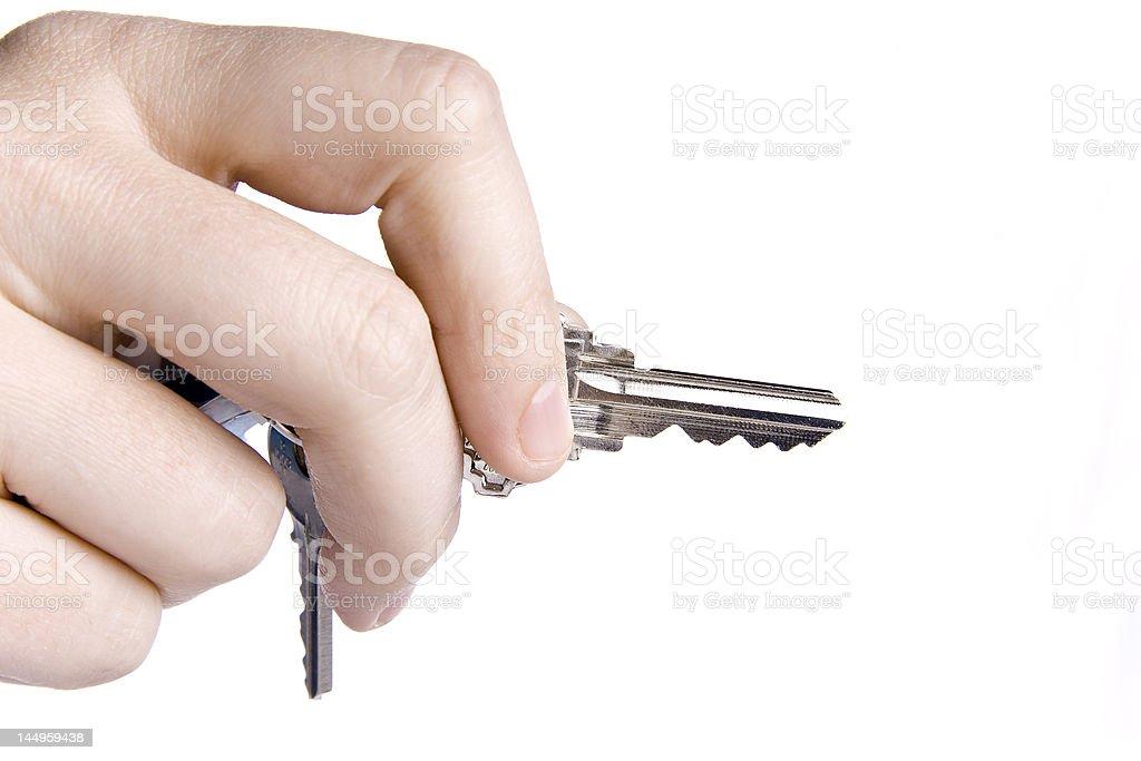 Keys in hand royalty-free stock photo