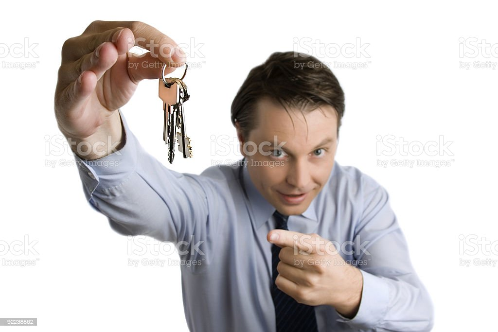Keys in the male's hand royalty-free stock photo