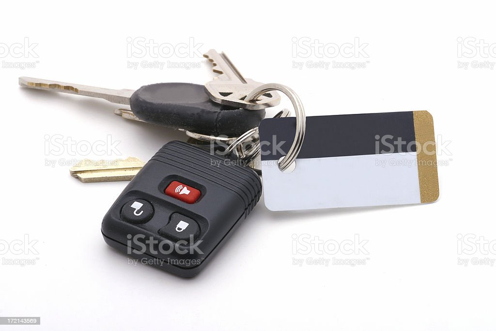 Keys - Insert your information on the tag royalty-free stock photo