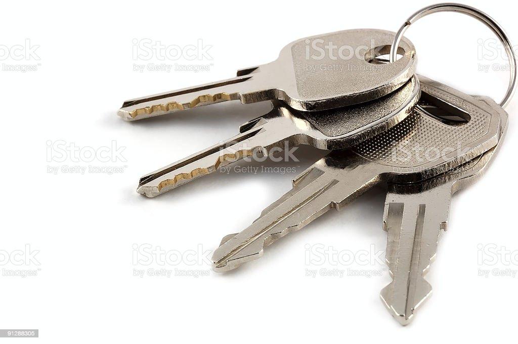 keys isolated royalty-free stock photo