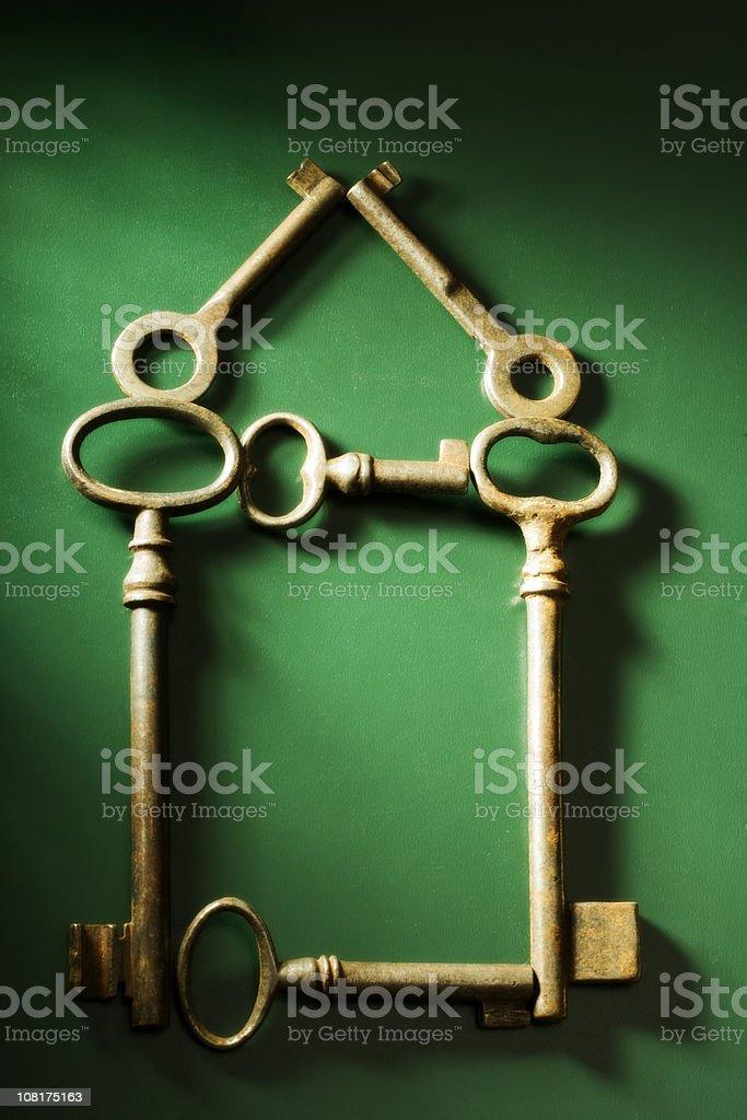 Keys Making House Design royalty-free stock photo