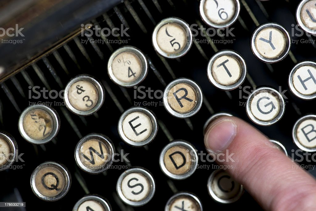 keys of vintage typewriter royalty-free stock photo