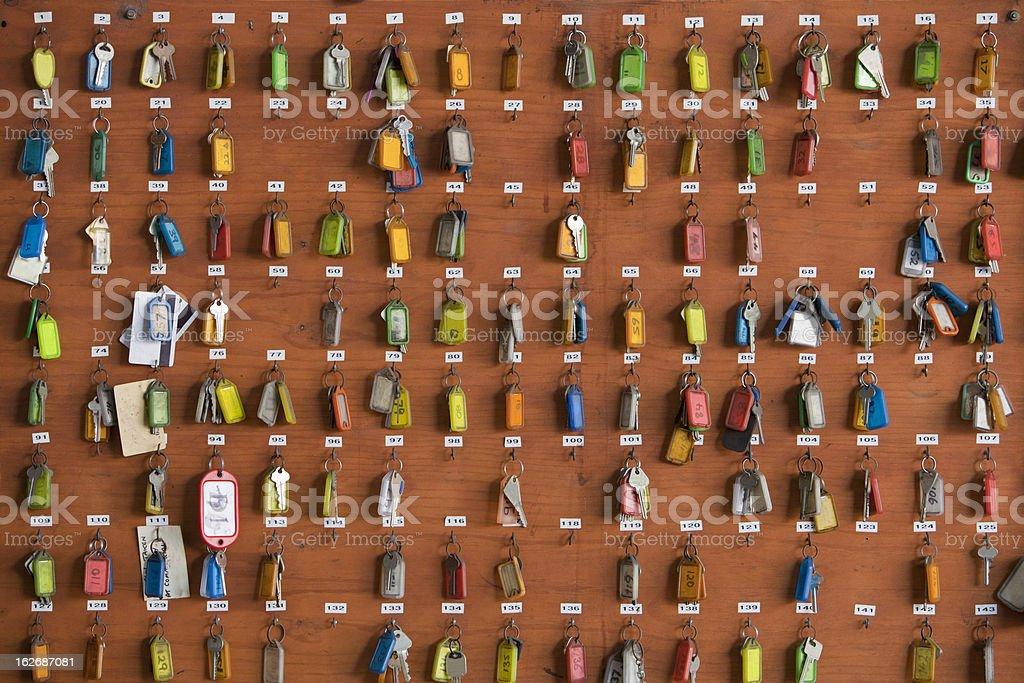 Keys on a Rack stock photo